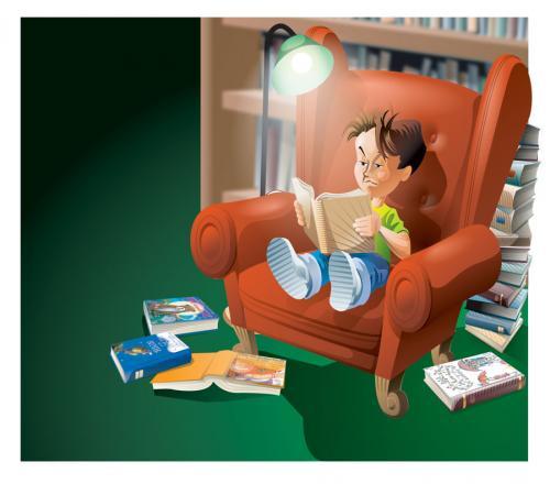 Animaci n a la lectura actividades l dicas educativas - Lamparas para leer libros ...