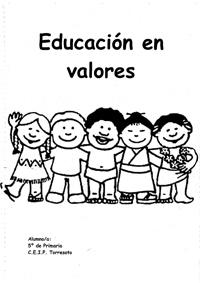 Cuadernos De Valores Para E  Infantil Y Primaria