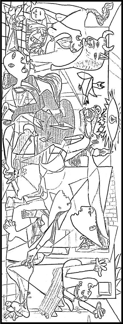 Coloreamos el Guernica de Picasso - Actiludis