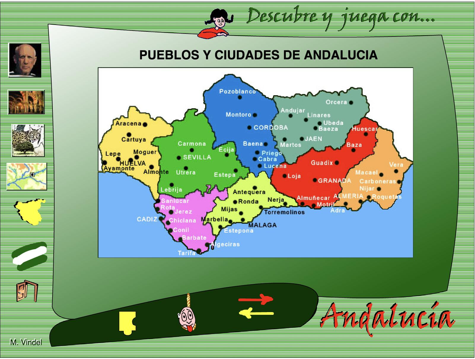 Descubre y juega con Andalucia - Actiludis