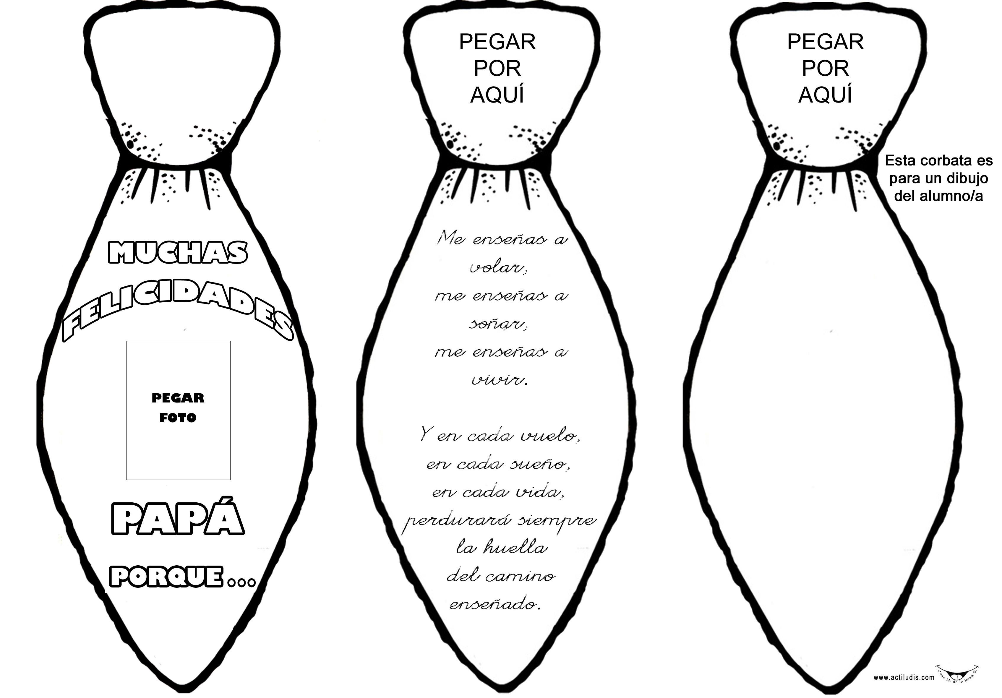 Dibujos De Corbatas Para Imprimir Y Colorear: Corbata Triple