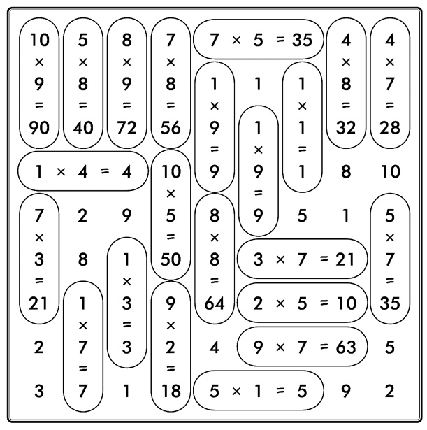 Juegos de matemáticas para primaria - Imagui