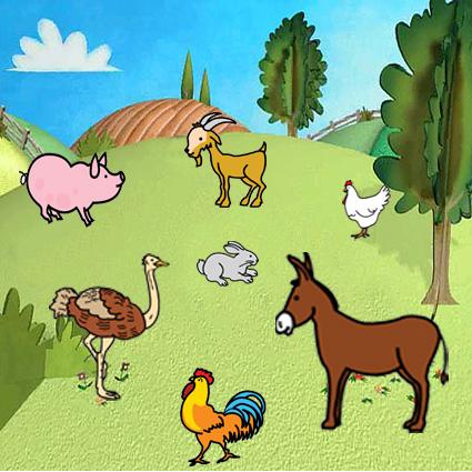 Separar a los animales con 3 líneas - Actiludis