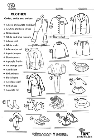 Clothes. Worksheet