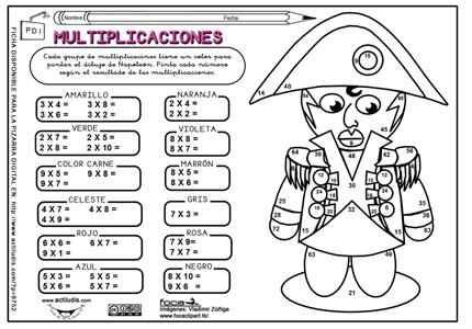 Repasamos las tablas de multiplicar - Actividades Lúdicas Educativas