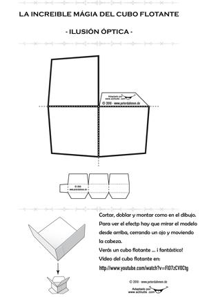 Matemáticas Solidarias: ILUSIONES OPTICAS: Cubo flotante