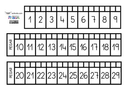 Recta numérica - Actiludis