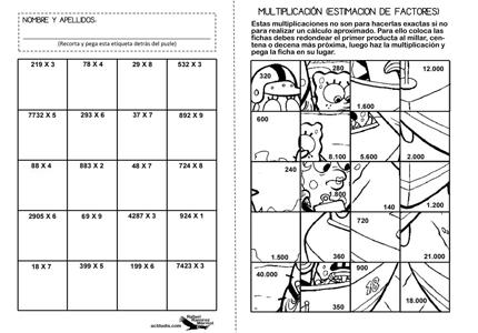 Ejercicios de multiplicacion con imagenes - Imagui