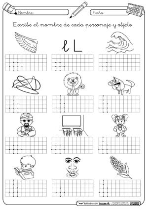 Escritura Palabras Con L En Montessori