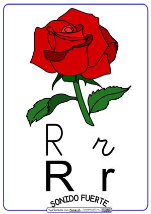 """Letra """"R"""" con sonido fuerte (Letra cursiva) Actiludis"""