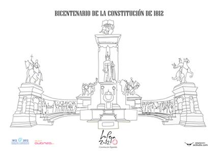 Dibujo: monumento a la Constitución del 1812   Actiludis