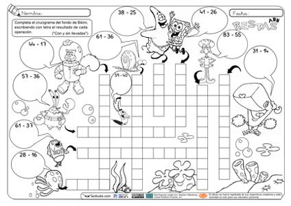 Crucigramas para niños de 5 de primaria - Imagui