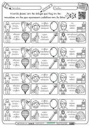 Aprender Es Divertido 1º Y 2º Fichas Para Trabajar Las Sílabas Gla