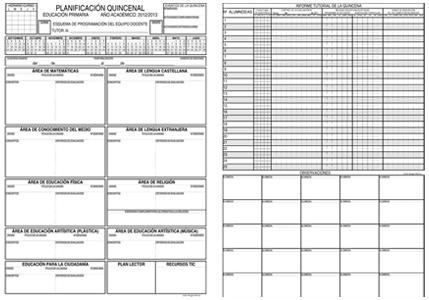 Planificación Quincenal de Aula (2014-2015)
