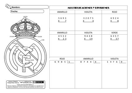 Producto y División 01 tradicional
