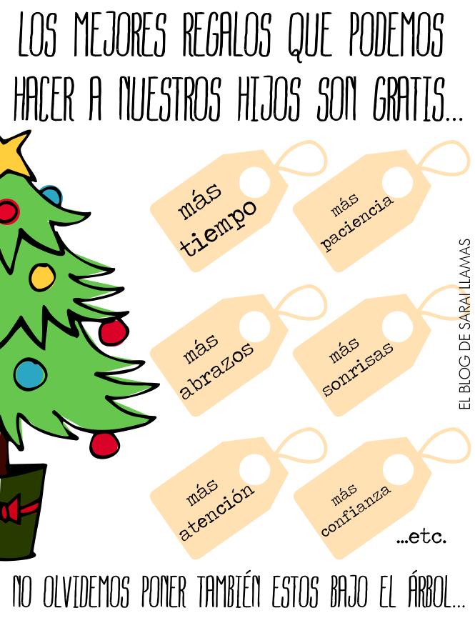 Frase del d a los mejores regalos son gratis actiludis - Regalos para pedir en navidad ...