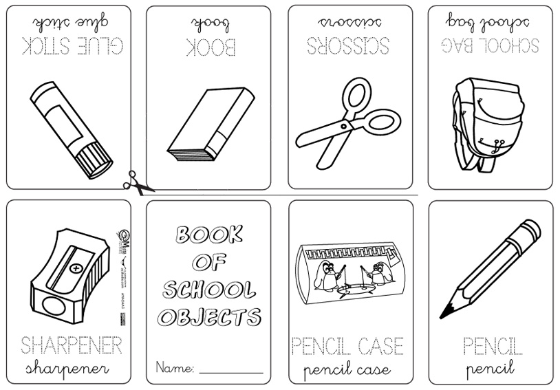 Los nombres de en utiles escolares inglés con su dibujo - Imagui