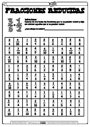 Reduccir fracciones 01