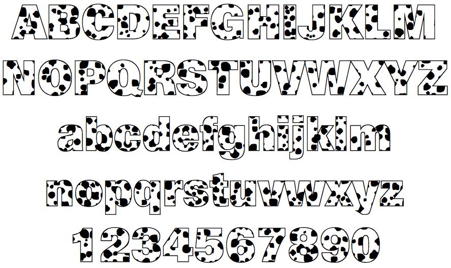 Tipos de letras divertidas - Actiludis