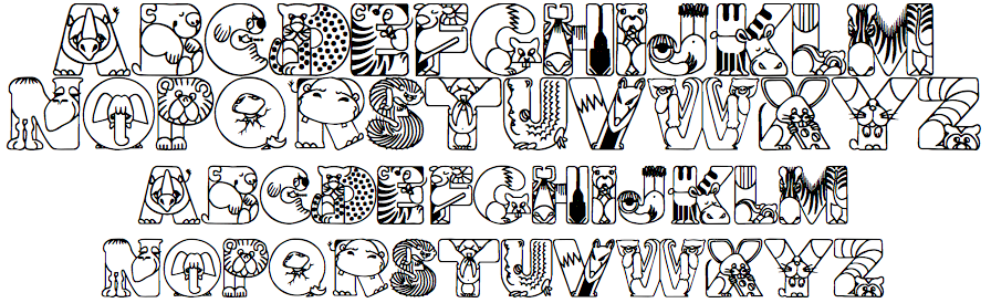 Letras divertidas imagui - Literas divertidas para ninos ...