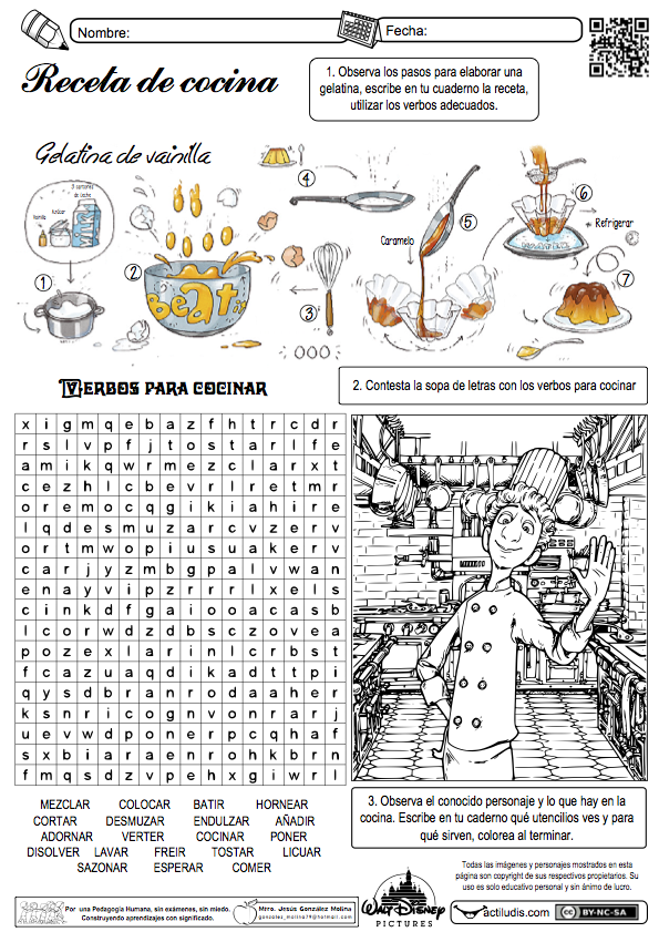 Nos metemos en la cocina actiludis for Utensilios de cocina y sus funciones pdf