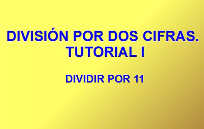 V deo tutoriales para la divisi n por 2 cifras actiludis for Dividir piso en dos