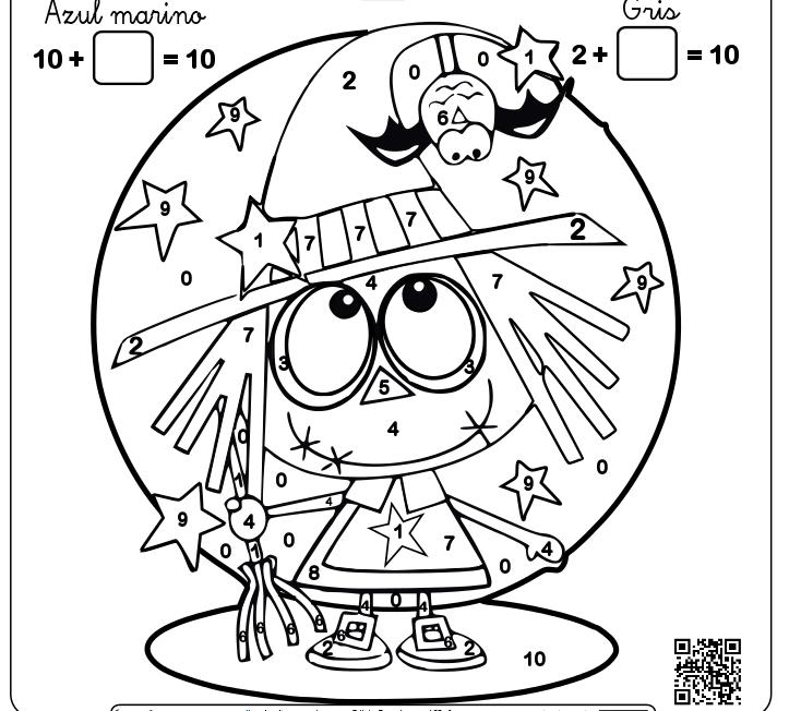 Magnífico Colorante De Matemáticas De Halloween Ornamento - Páginas ...