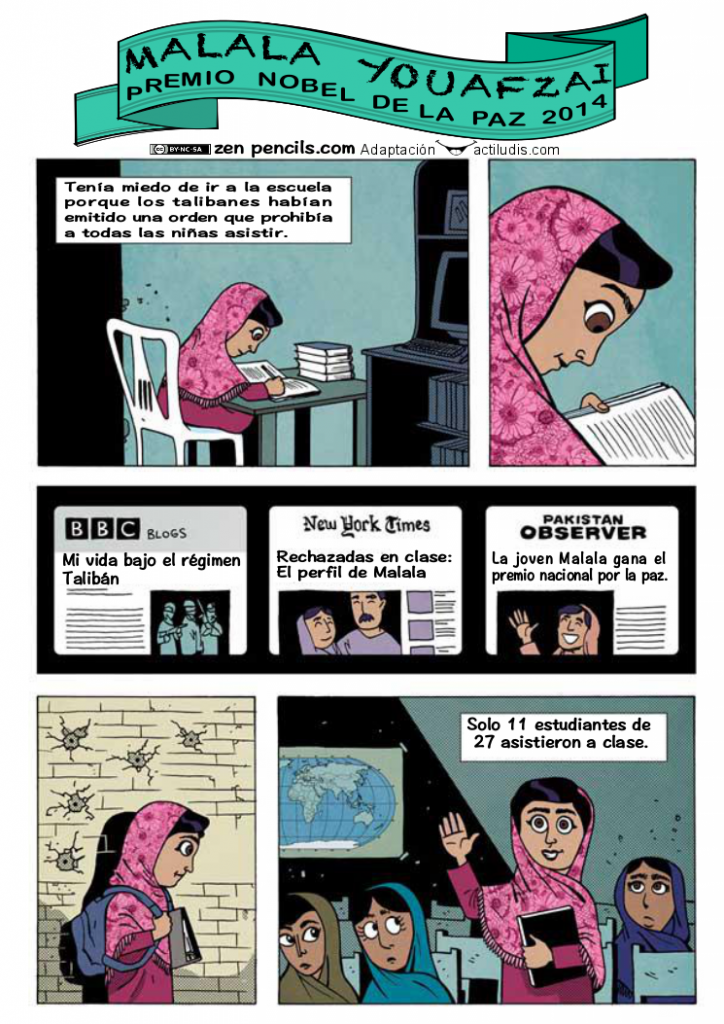 Comic Malala COLOR