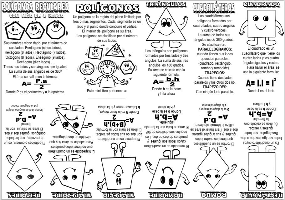 Mini libro Polígonos - Actiludis