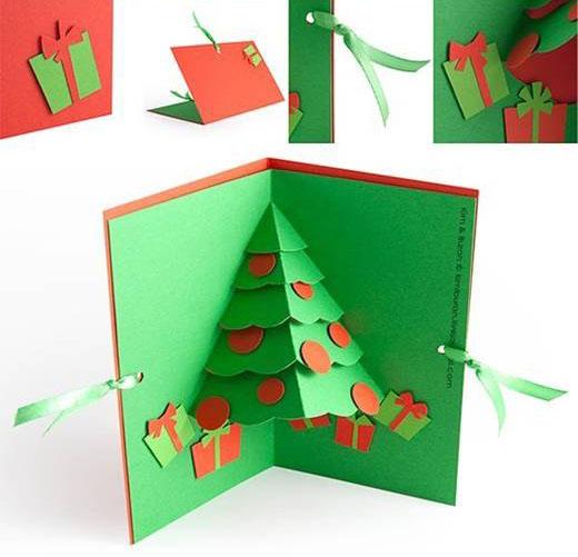 Tarjeta 3d para felicitar la navidad actiludis - Hacer una tarjeta navidena ...