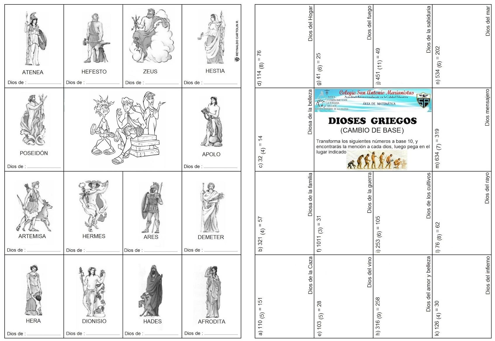 imagenes de dioses del olimpo para dibujar | Imagenesparacolorear ...
