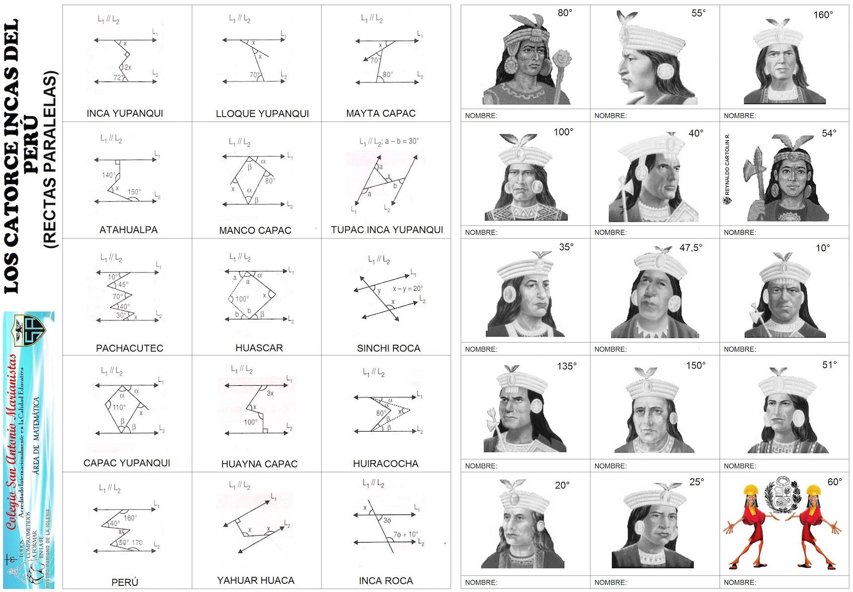 Los catorce incas - rectas paralelas - Actiludis