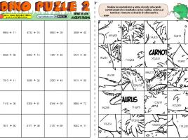 02 Dino puzle repartos con cociente decimal