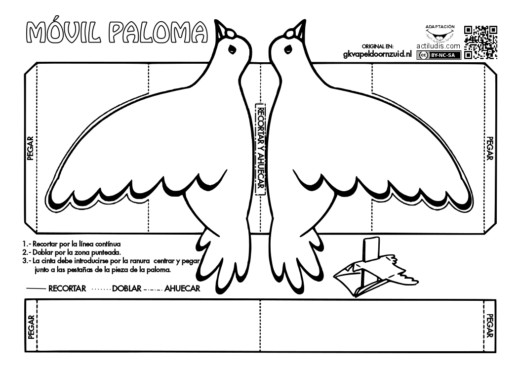 Moldes De Palomas Para Imprimir: Paloma Móvil