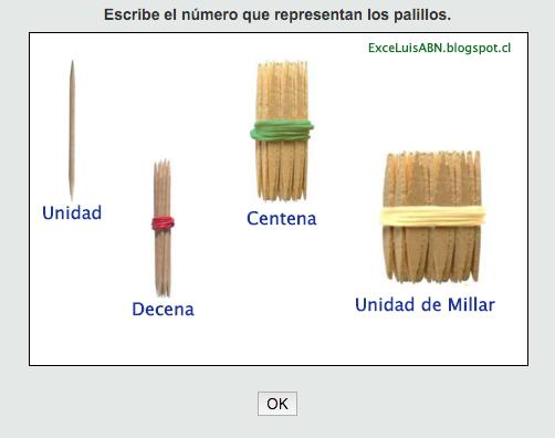 Número con palillos