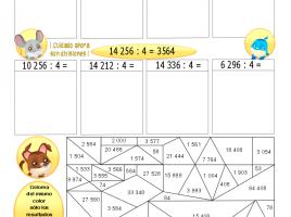 Patrones y aproximaciones con productos y divisiónes