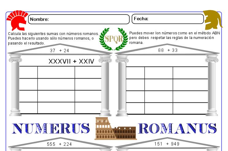 Números Romanos01 Actiludis