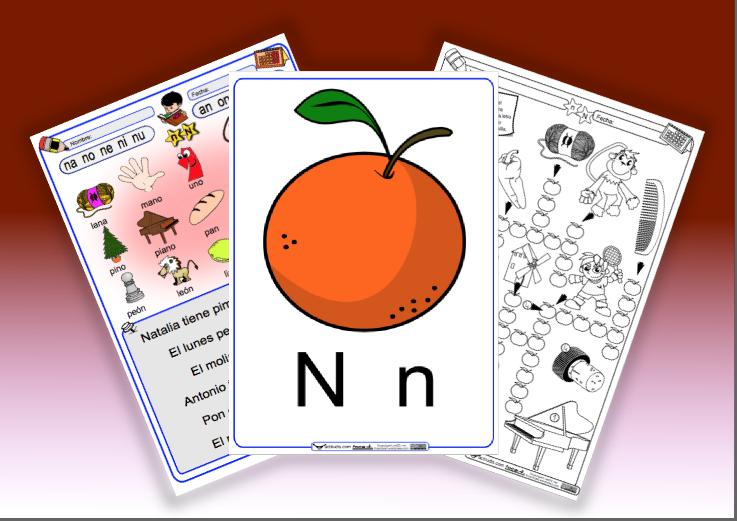 Letra N (Letra Imprenta)