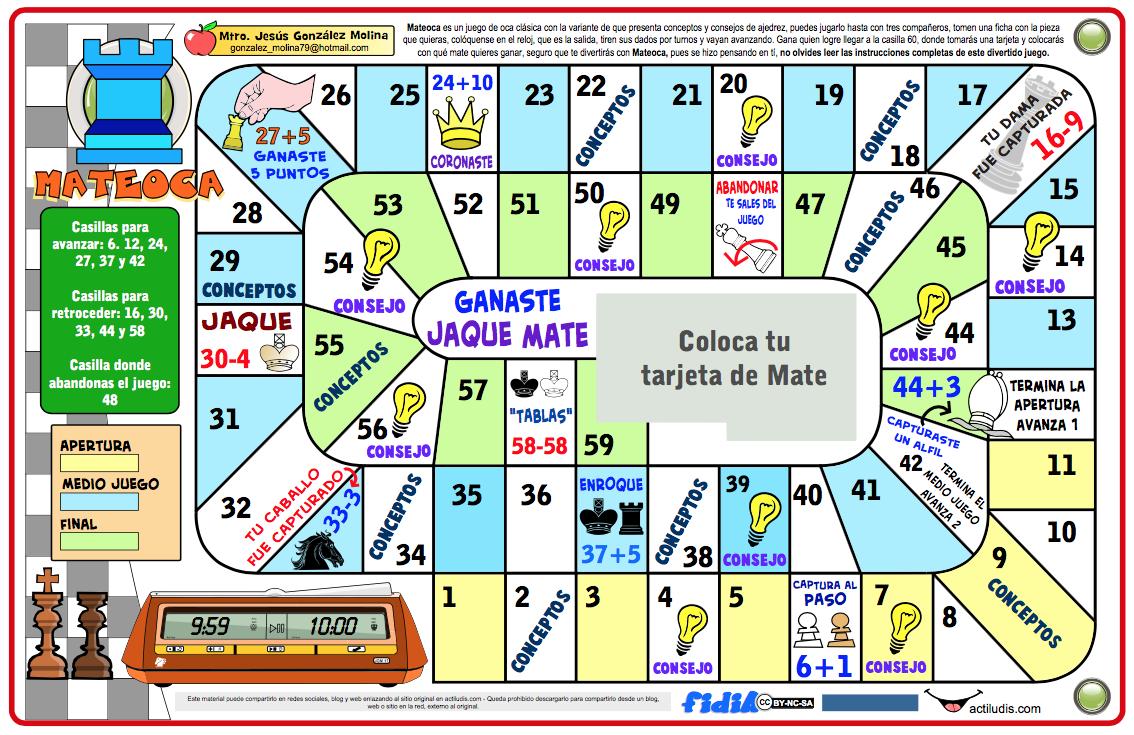 Mateoca la oca del ajedrez actiludis - La oca juego de mesa ...